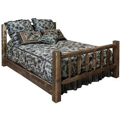 Farmhouse Style Beds King Size Amish Made Bed Lodge Cabin Furniture
