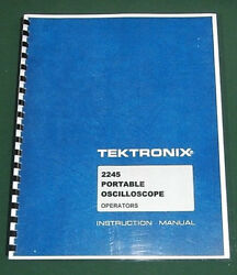 Tektronix 2245 Instruction Manual Comb Bound And Protective Plastic Covers