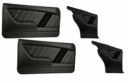 Sport R Molded Door And Quarter Panel Set - Black - For 1969 Camaro By Tmi