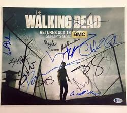 The Walking Dead X15 Cast Signed 11x14 Photo Beckett Bas Coa Lincoln And Reedus