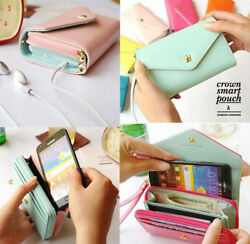 Leather Clutch Wallet Phone Case Card Holder Purse IPhone5 4S GALAXY S2 S3 S4 GBP 3.99