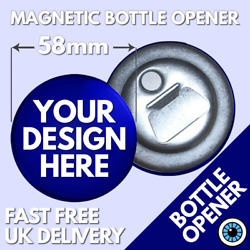 58mm Custom Bottle Opener And Magnet Personalised Bespoke Hen Stag Wedding Party