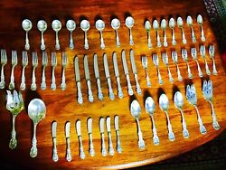 Reed And Barton Sterling Silver Flatware Frances 52 Pieces