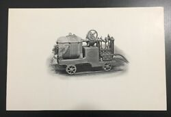 Vtg Carbon Type Photograph Steam Engine Train J Baker And Sons Engineers England