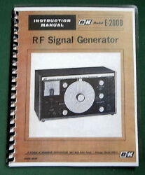 Bandk E-200d Signal Generator Instruction Manual Comb Bound And Protective Covers