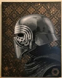 KYLO REN Star Wars - Force Awakens - Stencil Art Painting - Kylo Ren Pop Art