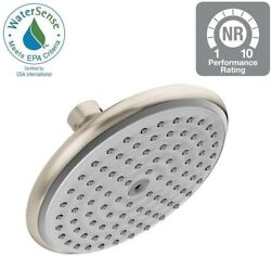 Showerhead 1-spray 6 In. Wall Mount In Brushed Nickel With Self-cleaning Nozzles