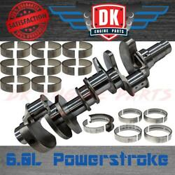 New Ford 6.0 6.0l Powerstroke Crankshaft And Bearings Crank No Core Charge