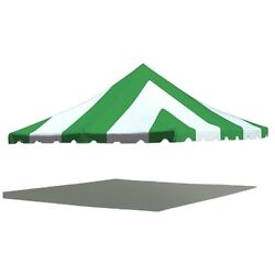 Premium 20x20 Pole Tent Canopy Green White 16 Oz Replacement Block-out Vinyl Top