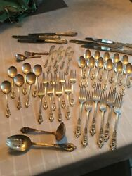 Vintage Wallace Sterling Silver 48 Piece Set