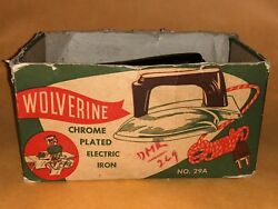 Vintage Wolverine Electric No 29a Sunny Suzy Iron Chrome Plated Toy Play W/ Box