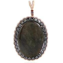French Collection Lb Exclusive French Collection 18k Rose Gold Onyx And Diamond...