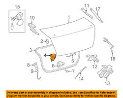 NISSAN OEM 07-12 Sentra Trunk-Lock or Actuator Latch Release 84630ET02A