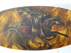 Superb Coffee Table The Horses 1960 1970 Vintage Plastic Resin 60's 70's