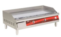 36 Electric Countertop Commercial Diner Kitchen Duty Griddle Flat Top Grill