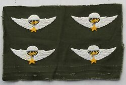 Wartime Hand Embroidered Vietnamese Master Airborne Wings Paratrooper Insignia