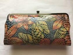 NWOT HOBO Hibiscus Floral Leather Lauren Clutch Wallet - SOLD OUT!