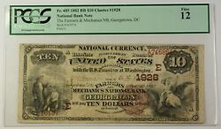 1882 Bb Farmers And Mechanics Bank Georgetown Dc 10 Note Charter 1928 Pcgs F12 Rs