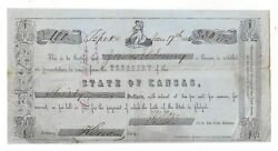 1856 Treasury Of The State Of Kansas, Topeka - 30 Certificate Of Deposit/note