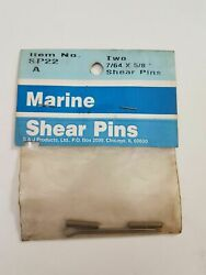 New S And J Marine Outboard Oem Shear Pins 22 7/64x 5/8 Sp22