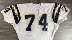 Chargers Jersey Sand Knit Vtg San Diego 1985 74 Raleigh Roundtree Game Worn Xl
