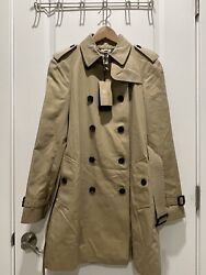 Westminster Trench Coat Medium-length New With Tag Us Size 8 Honey