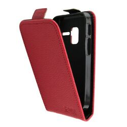 Caseroxx Flip Cover For Alcatel 2008g In Red Made Of Faux Leather