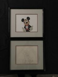 Disney Mickey Cel 60th Academy Awards Appearance W Matching Drawing NEW PRICE!