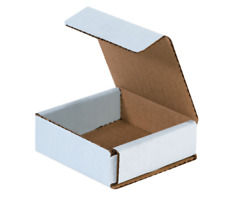 1-200 Choose Quantity 3x3x1 Corrugated White Mailers Packing Boxes 3 X 3 X 1