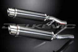 Delkevic 14 Carbon Round Mufflers - Kawasaki Concours Zg1000 1986-2006 Exhaust