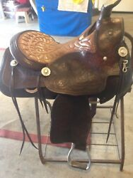 Pat Gill Vintage Saddle 16-161/2 In Padded Seat, Original Silver. Show/pleasure.