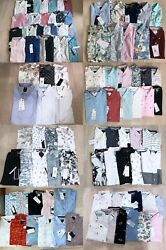Denim And Flower Menand039s Slim Fit Button Front Casual Short Sleeve Shirt S/m/l/xl