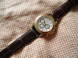0 25 32in strap Alligator Real Brown Thread White Big Scales Hand Made