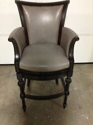 Frontgate Chesterfield Bar 30 Seat Height Counter Stool Chair Wood Stargo Dove