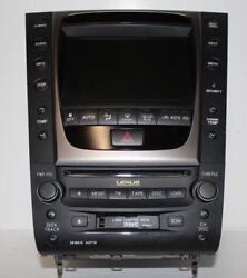 2006-2007 LEXUS GS350 RADIO CASSETTE CLIMATE CONTROL NAVIGATION DISPLAY SCREEN