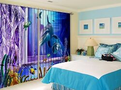 3d Hippocampus 5blockout Photo Curtain Printing Curtains Drapes Fabric Window Ca
