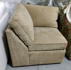 Pottery Barn Square Arm Upholstered Sofa Sectional Oat Everyday Suede Corner