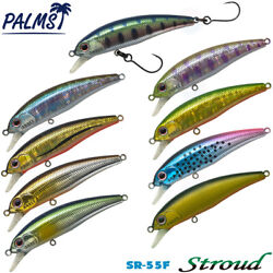 Palms Stroud Sr-55f 3.3 G Assorted Colors Floating Minnow