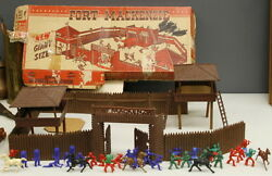 Rare 1950and039s T Cohn Fort Mackenzie Play Set And Men