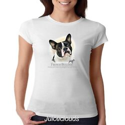 French Bulldog Fitted Shirt Puppy Pet Rescue Dog Owner JUNIORS Tee