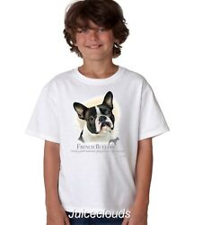 French Bulldog Kids T-Shirt Puppy Pet Rescue Dog Owner YOUTH Tee