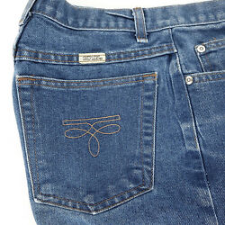 Vintage Sheplers Womens Jeans 10 Cut 1734 Blue Stone Washed Straight Leg 26 X 29
