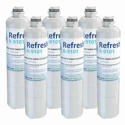 Refresh Replacement Water Filter - Fits Samsung Rs261mdrs Refrigerators 6 Pack