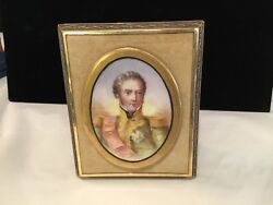 Antique Rare Handpainted Portrait Of Napoleon Must See No Reserve Wow