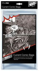 Ultra Pro Comic Bags Current Silver Gold Mag 100 200 500 1000 Regular Resealable $11.62