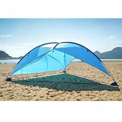 OILEUS Super Big Canopy Tent With Sand Bags - Easy Beach Sun Shelter Lightweight