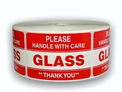 Please Glass Handle Care Shipping Stickers 2x3, 1000 Labels P/r, 50 Rolls