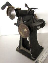 Vintage American Hand Crank Leather Cutter Trimmer Antique St. Louis Made In Usa