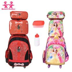 Fashionable Children School Bag Trolley Luggage Backpack Sets For Boys And Girls
