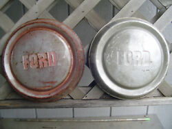 Vintage Two Ford Pickup Truck Dog Dish Center Caps Hubcaps Wheel Covers Fomoco